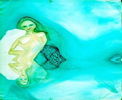 Digital Art - Subconscious Mermaid by Phoenix De Vries