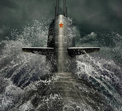 Submarine Art Print by Dmitry Laudin