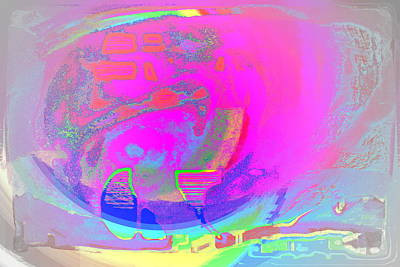 Outsider Art Photograph - We All Live In A Pink Submarine by Hilde Widerberg