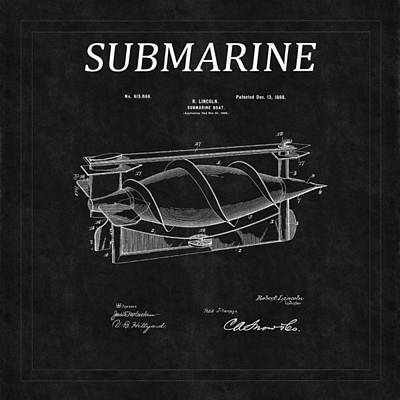 Photograph - Submarine Patent 4 by Andrew Fare