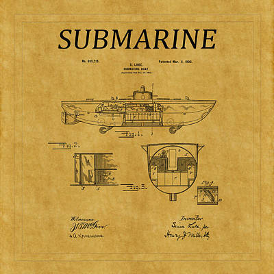 Photograph - Submarine Patent 5 by Andrew Fare
