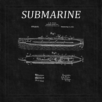Photograph - Submarine Patent 8 by Andrew Fare