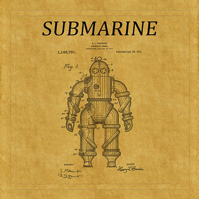 Photograph - Submarine Patent 9 by Andrew Fare