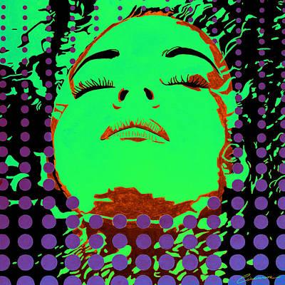 Borg Painting - Submerged Woman Pop 1 by Joe Ciccarone