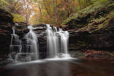 Subtle Fall Hues At Wyandot Falls Art Print