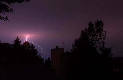 Photograph - Subtle Lightning Strike by Deborah Smolinske