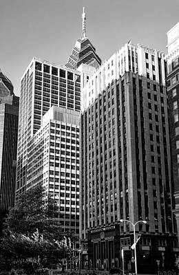 Suburban Digital Art - Suburban Station Building - Philadelphia In Black And White by Bill Cannon