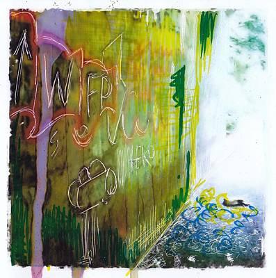 Grafitti Mixed Media - Subway 3 by Nyree Goad