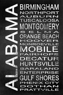 Subway Alabama State 1 Art Print by Melissa Smith