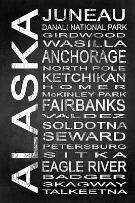 Subway Alaska State 1 Art Print by Melissa Smith
