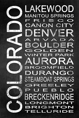 Subway Colorado State 1 Art Print by Melissa Smith