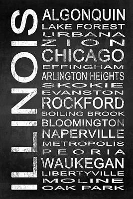 Subway Illinois State 1 Art Print by Melissa Smith