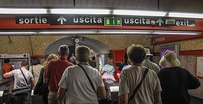 Photograph - Subway In Rome - June 4 by Dwight Theall