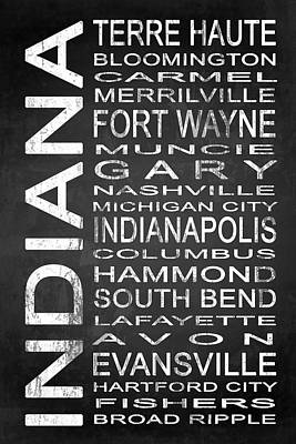 Subway Indiana State 1 Art Print by Melissa Smith