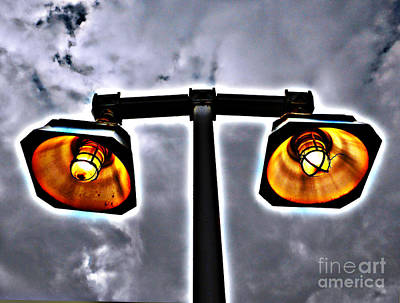 Photograph - Subway Lamps by Mark Thomas