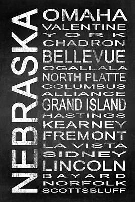 Subway Nebraska State 1 Art Print by Melissa Smith