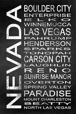 Subway Nevada State 1 Art Print