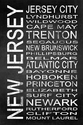 Subway New Jersey State 1 Art Print by Melissa Smith