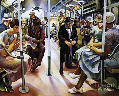 U.s.pd Painting - Subway by Pg Reproductions