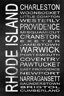 Subway Rhode Island State 1 Art Print by Melissa Smith
