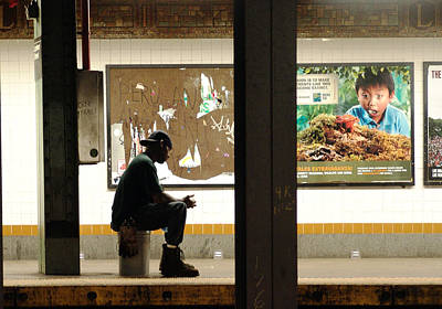 Mietko Photograph - Subway Sitter by Mieczyslaw Rudek