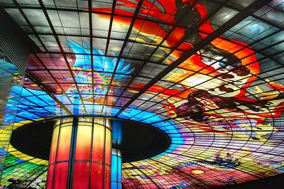 Photograph - Subway Station Ceiling  by Bill Hamilton