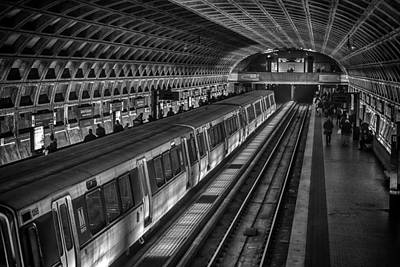 Restless Light Photograph - Subway Train by Lynn Palmer