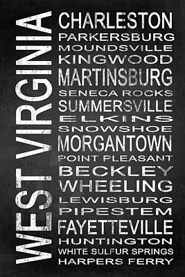 Subway West Virginia State 1 Art Print by Melissa Smith