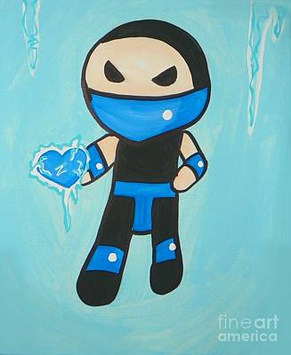 Subzero Frozen Heart Art Print