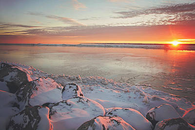 Subzero Sunrise Art Print by Carrie Ann Grippo-Pike