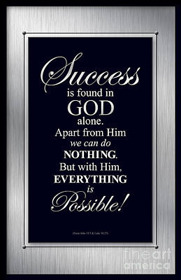 Digital Art - Success Is Found In God by Shevon Johnson