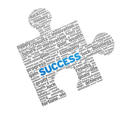 Success Puzzle Art Print