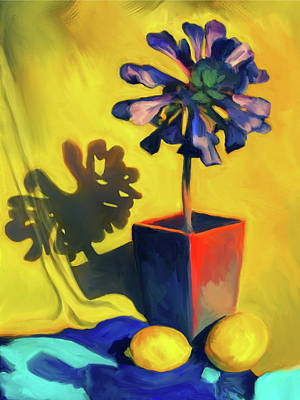 Digital Art - Succulent And Lemons by Sandra Selle Rodriguez
