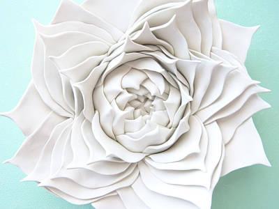Succulent Plant Wall Sculpture - Spiral Aloe Original by Lenka Kasprisin