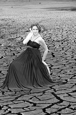 Dry Lake Photograph - An Image Of Elegance Black And White by Teri Schuster