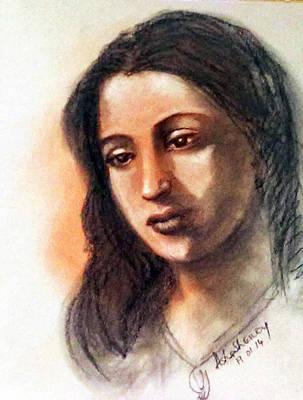 Drawing - Suchitra Sen by Asha Sudhaker Shenoy