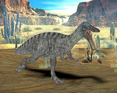 African Landscape Photograph - Suchomimus Dinosaur by Friedrich Saurer
