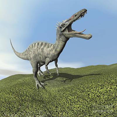 Anger Digital Art - Suchomimus Dinosaur Roaring by Elena Duvernay