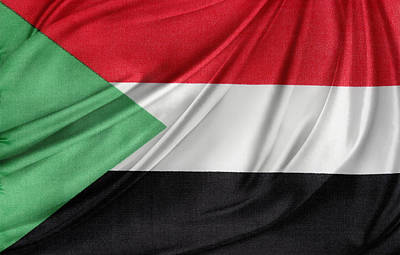 Waving Flag Photograph - Sudanese Flag by Les Cunliffe