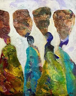 South Sudan Painting - Sudanese Women by Clarisse Pastor-Medina
