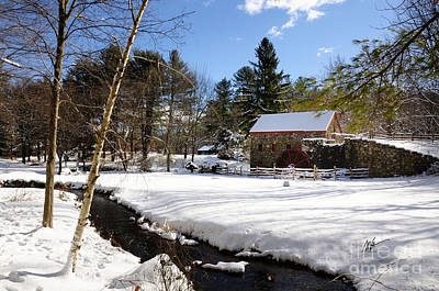 Sudbury - Grist Mill Winter Creek Art Print