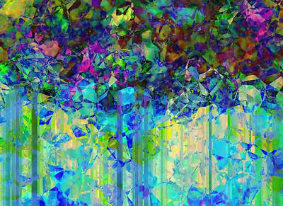 Digital Art - Sudden Rain And My Blues by Wendy J St Christopher