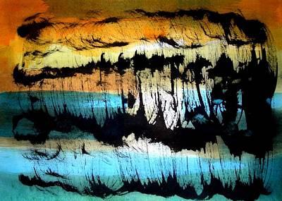 Sudden Rain-shower At The Sea  Art Print