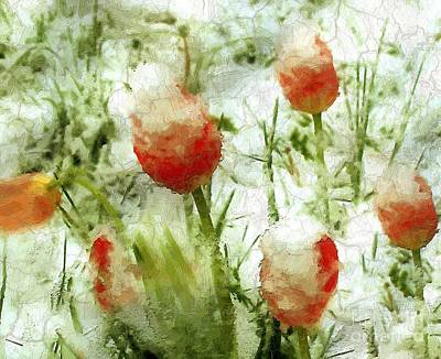 Suddenly Snow Art Print by RC deWinter
