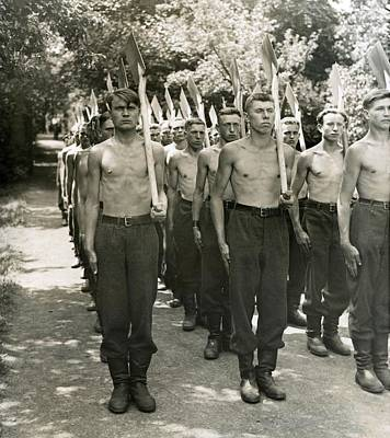 Bare-chested Photograph - Sudeten Germans In Czechoslovakia, June by Everett