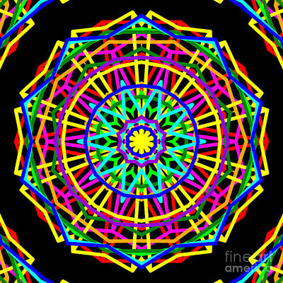 Sudoku Connections Kaleidoscope Art Print by Ron Brown