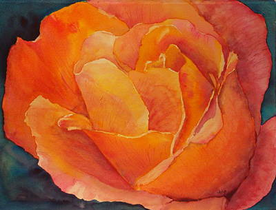 Painting - Sue's Rose by Arlys Hefty