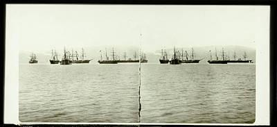 Suez Canal Inauguration Depart Fleet Suez Art Print