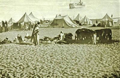 Suez Canal Inauguration Ismailia, Arab Camp At Lake Timsah Art Print