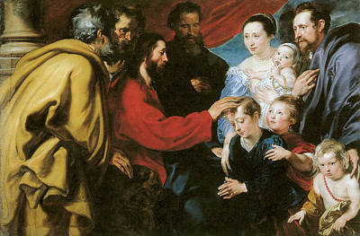 Van Dyke Painting - Suffer The Little Children To Come Unto Me by Anthony Van Dyke